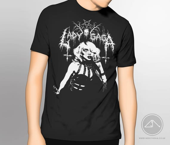 Lady Gaga Inspired Death Metal T-shirt - Lady Gaga T-shirt [Unofficial] -