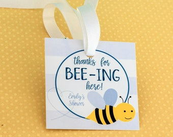 Bumble Bee Baby Shower Tags Gender Neutral Boy Girl Thank You