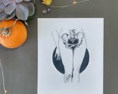 Hips, limited edition print, inktober