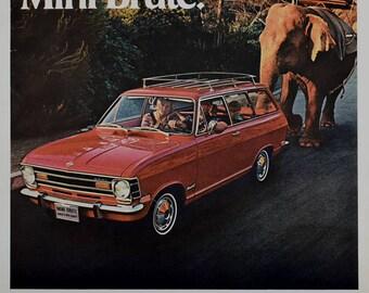 1969 Opel Kadett Print Ad - The Family Mini Brute, Elephant - 1960s Buick Ads, Red Station Wagon