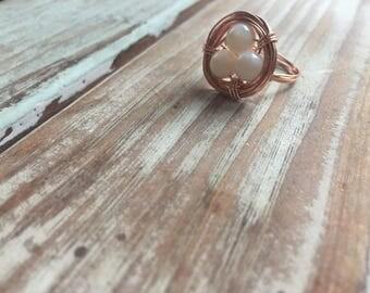 Rose Gold Bird's Nest Ring