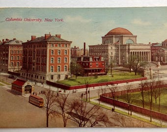 Columbia University, Vintage Postcard,  Columbia, University, NYC, New York City, Ephemera great for alumni or faculty gift, 1911