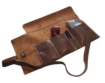 pipe leather pouch