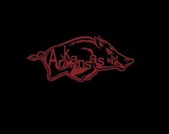 University of Arkansas machine embroidery design