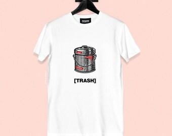 Trash T-shirt - Vintage Illustration - Unisex Streetwear - S, M, L, XL, XXL | Made to Order |
