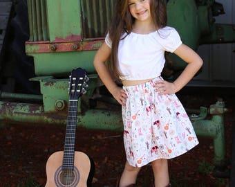 Country Skirt, Girls Skirts, Cowgirl Skirt, Baby Skirt, Children's Clothing, Baby Clothes, Baby Shower Gift, Birthday Gift, Girls Clothing