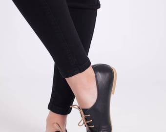 Black Oxford Woman Shoes
