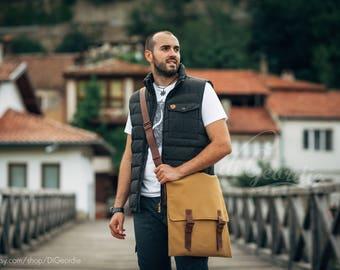 canvas messenger bag man waxed canvas bag man leather messenger canvas crossbody bag canvas shoulder bag laptop bag school bag travel bag
