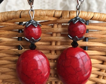 Lulu Final Fantasy X Regal Red Leverback Earrings FF10 FFX Cosplay Final Fantasy 10