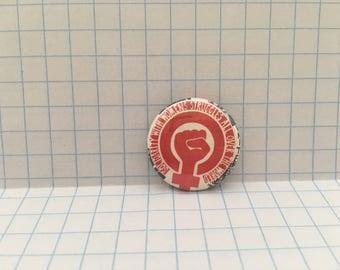 "feminist pin, activist, 1"" Pinback Button, female symbol pin"