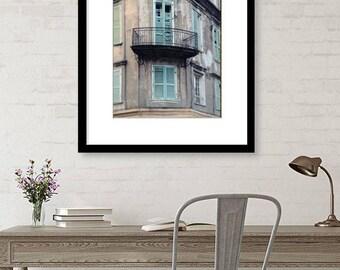 New Orleans Art, French Quarter, Photography, Architecture, Windows, Travel Decor, Fine Art Print, Wall Art, Sage Green, Home Decor