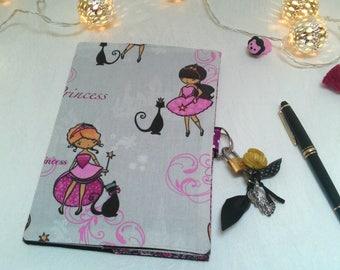 Secret book with lock / for girl artist /carnet diary / notebook fabric /carnet travel/gift for girl