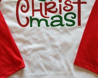 Merry Christmas Raglan Shirt, Merry Christmas Shirt, Christmas Shirt, Merry Christmas Raglan, Religious Christmas Shirt, Holiday Shirt