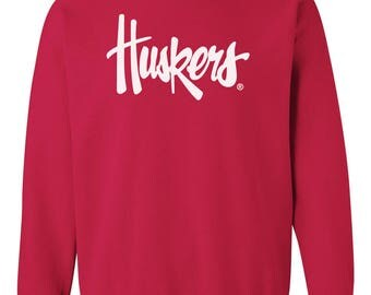 Nebraska Cornhuskers Legacy Script Huskers Crewneck Sweatshirt Nebraska Husker Gear And Game Day Nebraska Husker Fleece Apparel By CornBorn