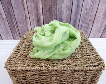 Newborn Cheesecloth Wrap, Sage Green Baby Wrap, Maternity Cheesecloth Wrap