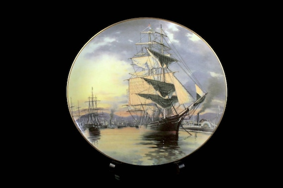 1981 Collectible Plate, Flying Cloud, The Great Clipper Ships Collection, Limited Edition, Decorative Plate, Wall Decor, Franklin Mint
