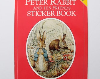 Rare Peter Rabbit and His Friends Sticker Book by Beatrix Potter 1987