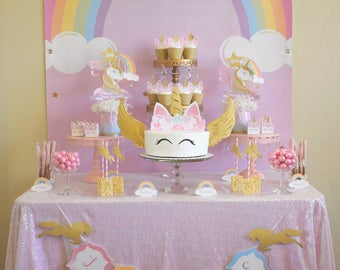 Unicorn Birthday Party, Unicorn Cake Topper, Unicorn Cupcakes, Unicorn Banner, Unicorn Party Favor, Unicorn Favor Bags, Unicorn Celebration