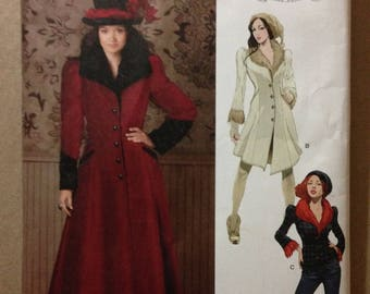 Simplicity 1732 Duster Car Coat or Jacket with Queen Anne Collar by Arkivestry - Size 14 16 18 20 22