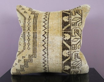 kilim pillow,  16x16inch turkish pillow, kilim pillow case, E20