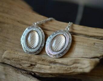 Silver Snake skin Locket