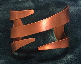 Contemporary Design Copper Cuff