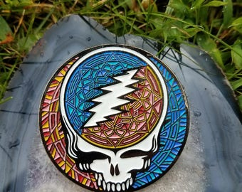 10 Pack XL Steal Your Face Hat Pin *Glow Version*