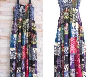SALE 20% off and Free Gift !!! ** Women's Maxi Dress / Patchwork Dress / Bohemian Dress / Boho Hippie Summer Beach Clothing