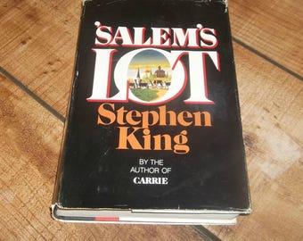 Salem's Lot Stephen King, Hardcover Edition with Dustjacket,  Horror Novel , Isbn# 0-385-00751-5, Nosferatu, Vampire Horror