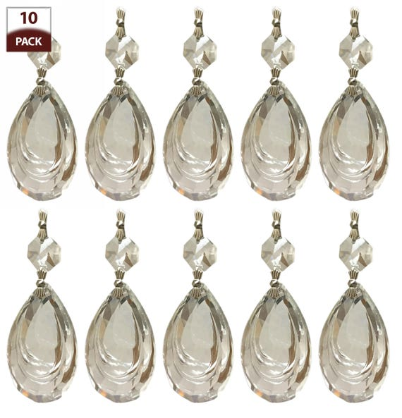 Replacement Chandelier Crystal Prism Pendalogue Almond Cut