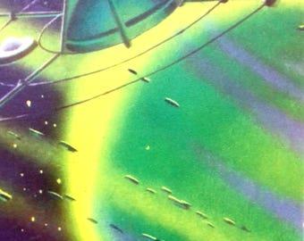 Vintage Space Postcard A. Sokolov - Rings of Saturn, 1963
