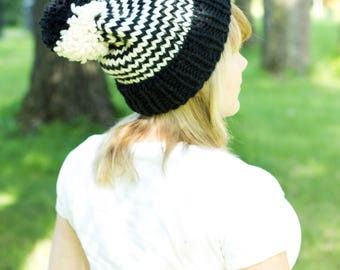 MADE TO ORDER! Dark Side of the Moon Striped Winter Hat