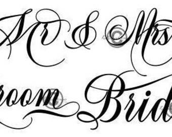 Mr and Mrs Svg, Groom Svg, Bride Svg, Dxf