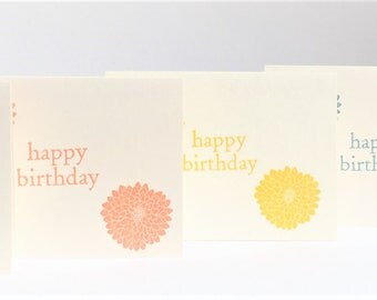 Happy Birthday Greeting Cards - Set of 5