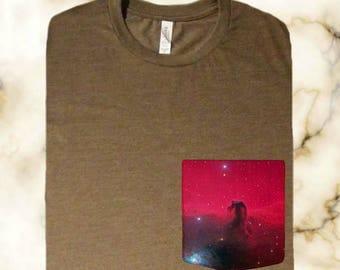Horsehead Nebula Pocket Shirt