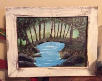Mountain acrylic painting