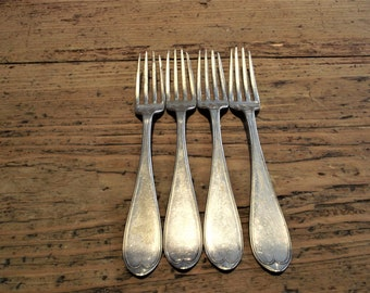 Vintage Silver Plated Forks, Set of 4