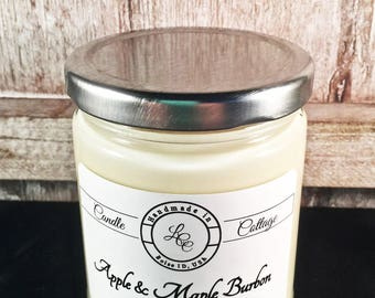 Organic Soy Candle-Apple Maple Burbon- Vegan- Holiday Gifts- Scented Candles- Eco-Friendly- Gifts