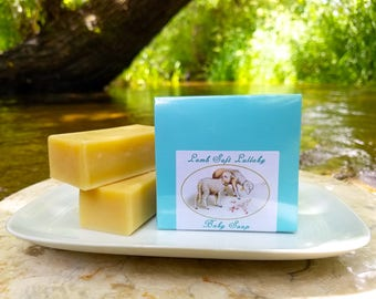 "Baby Soap - ""Lamb Soft Lullaby"" Unscented Soap, Lamb Soap, Olive Oil Soap, Baby Shower Soap, Baby Boy, Baby Gift Soap, Sheep Soap"