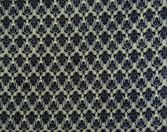 """Indian Fabric, Damask Print, Off White Fabric, Quilt Material, Decorative Fabric, 44"""" Inch Cotton Fabric By The Yard ZBC8744B"""