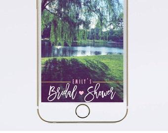 Bridal Shower Geofilter Bridal Shower Snapchat Filter Custom Snapchat Geo Filter Wedding Snapchat Filter, gold pink white snapchat filter