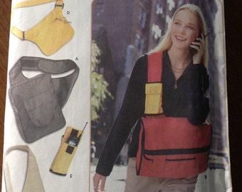 Bags and cell phone holder pattern, shoulder bag pattern, messenger bag pattern