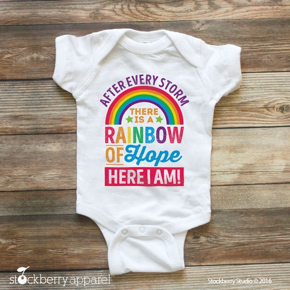 rainbow baby bodysuit rainbow baby announcement rainbow