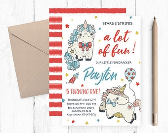 4th of July Birthday Invitation, 4th of July Birthday Party, 4th of July Birthday Invitations, 4th of July Birthday Invites, 4th  invite,