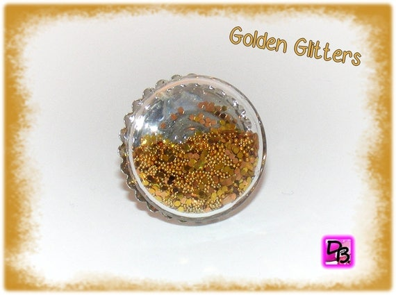Bague globe [Golden Glitters]