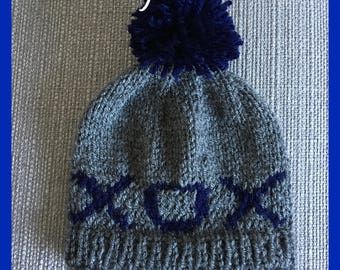 Baby boys woolly hat with XOX
