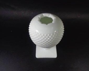 Milk Glass English Hobnail Ivy Ball Vase - Vintage Westmoreland Milk Glass Hobnail Vase -  Milk Glass Art Glass
