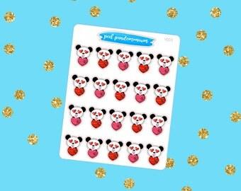 Box of Chocolate Panda Stickers (V003)