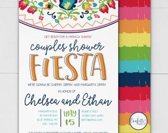 Fiesta Bridal Shower Invitation -  Fiesta Couples Shower Invitation - Mexican Fiesta Invitation - Mexican Couples Shower - Fiesta Mexican