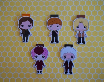Magnetic bookmarks - Hunger Games, Katniss, Peeta, Effie, Haymitch, President Snow